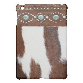 """Koeienhuid & Turkoois"" Western Hoesje IPad iPad Mini Hoesjes"