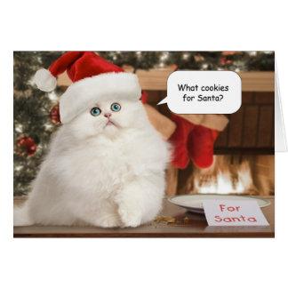 Koekjes voor de Kerstkaart van de Kerstman Wenskaart