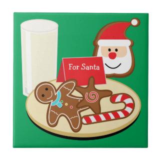 Koekjes voor de Tegel van de Kerstman Tegeltje Vierkant Small