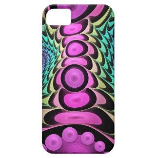 Koel abstract ontwerp met roze bellen barely there iPhone 5 hoesje