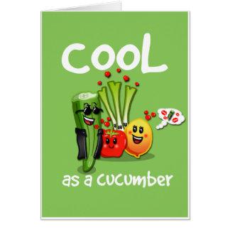 Koel als Kaart van de Groeten van de Komkommer