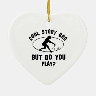 koel badmintondesign keramisch hart ornament