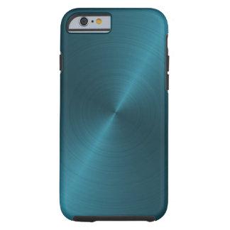 Koel Blauw Geborsteld Metaal Tough iPhone 6 Hoesje