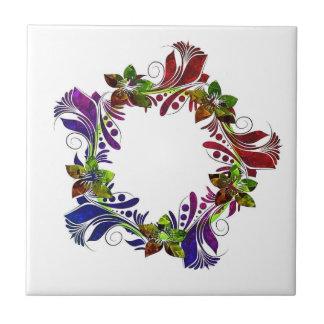 Koel bloemen multicolored ontwerp keramisch tegeltje