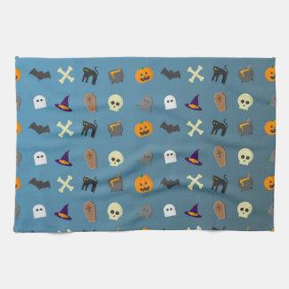 Koel en grappig Halloween patroon Theedoek