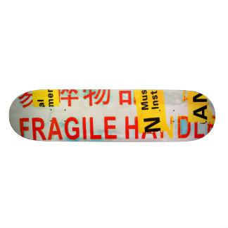 KOEL Gescheurde BREEKBARE Merkw Chinese Karakters 20,6 Cm Skateboard Deck