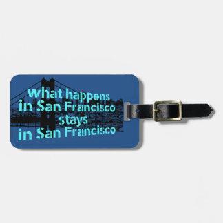 Koel grafisch bericht over San Francisco… Bagagelabel