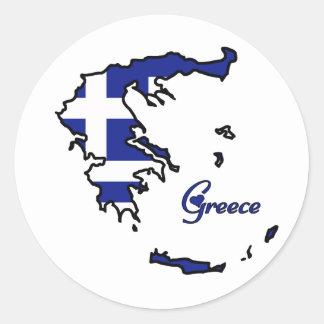 Koel Griekenland Ronde Sticker