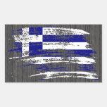 Koel Grieks vlagontwerp Rechthoekvormige Stickers