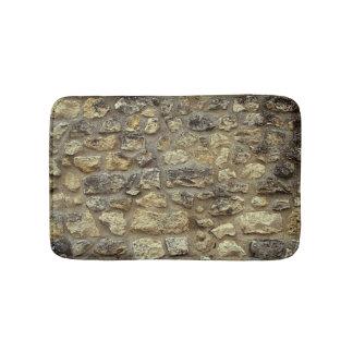Koel grijs de textuurontwerp van de steenmuur badmat