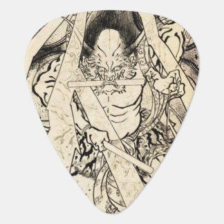 Koel het klassieke vintage Japanse tattoo van de Gitaar Plectrums 0