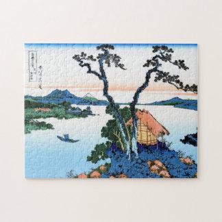 Koel het oosterse Japanse landschap van het Legpuzzel