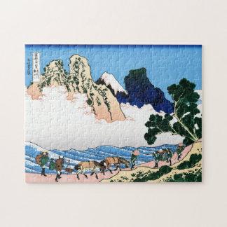 Koel het oosterse Japanse landschap van het Puzzel