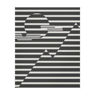 Koel lijnlandschap canvas print
