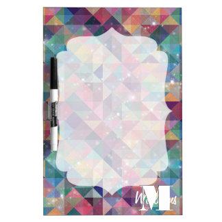 Koel modern kleurrijk driehoeken geometrisch whiteboards