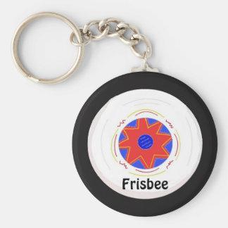 Koel Ontwerp Frisbee Sleutelhanger