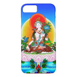 Koel oosters tibetan thangka Wit Tara tattoo iPhone 8/7 Hoesje