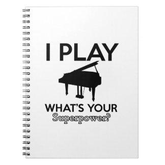 koel pianodesign ringband notitie boek