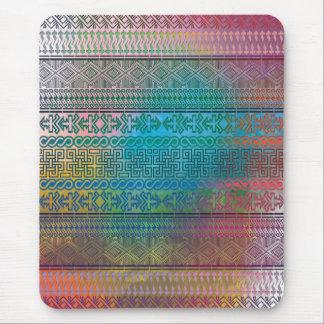 Koel trendy Azteeks geometrisch kleurrijk patroon Muismat