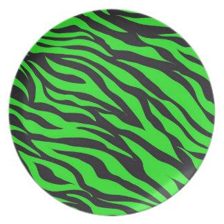 Koel Trendy Patroon van de Strepen van het Limoen Melamine+bord