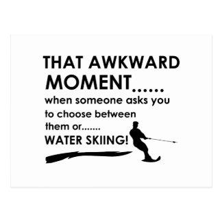 Koel water het ski?en design briefkaart