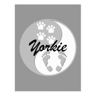 Koel yin yang yorkie briefkaart
