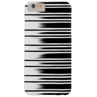 Koel Zwart-wit Gestreept Patroon Barely There iPhone 6 Plus Hoesje
