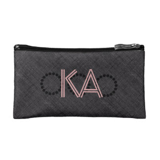 Koele Abstracte Zwarte Geweven voegt de Zak van Make-up Bag