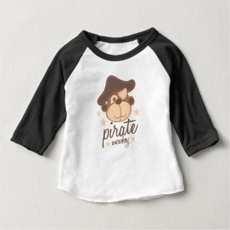 Koele de cartoon van de piraat baby t shirts
