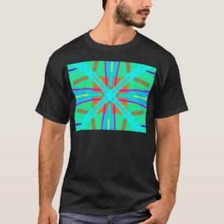 Koele Eigentijdse Retro van het Blauwgroen T Shirt