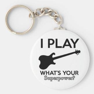 koele elektrische gitaar sleutelhanger