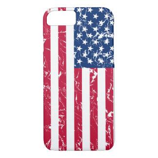 Koele en Patriottische Verontruste Amerikaanse iPhone 7 Hoesje