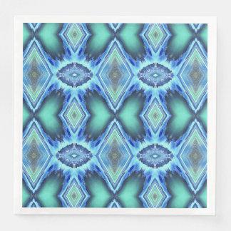 Koele Funky Blauwgroen Blauwe Pastelkleuren Wegwerp Servetten