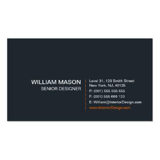 Koele Grijze, Oranje en Witte Modern - Visitekaart Visitekaartjes