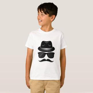 Koele Hipster met snor, pet en zonnebril T Shirt