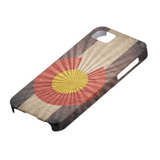 Koele iPhone 5 van de Vlag van Grunge Colorado Hoe Barely There iPhone 5 Hoesje