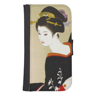 Koele Japanse vintage de damevrouw van de Galaxy S4 Portemonnee Hoesje