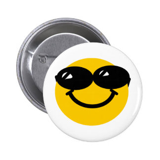 Koele kerelsmiley ronde button 5,7 cm