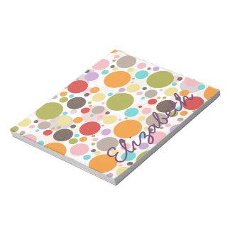 Koele kleurrijke trendy borrelt girly stippen notitieblok