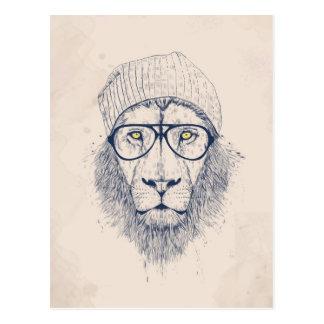 Koele leeuw briefkaart