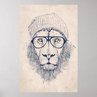 Koele leeuw poster