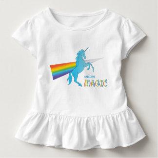 Koele magische Eenhoorn met heldere regenboog. Kinder Shirts