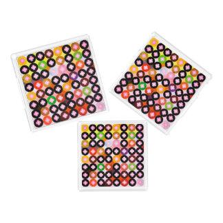 Koele Multi Gekleurde Cirkels & Roze Klavers Acryl Dienblad