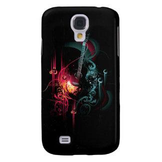 Koele Muziek Grafisch met Gitaar Galaxy S4 Hoesje