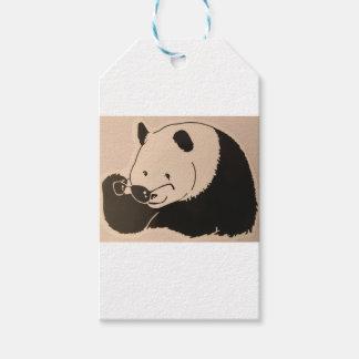 Koele Panda met Schaduwen Cadeaulabel