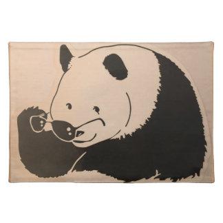 Koele Panda met Schaduwen Placemat