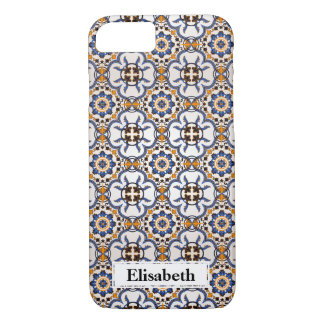 Koele Portugese Blauwe gepersonaliseerd Geel iPhone 8/7 Hoesje