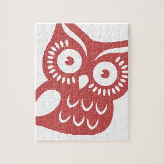 Koele Rode Uil Legpuzzel