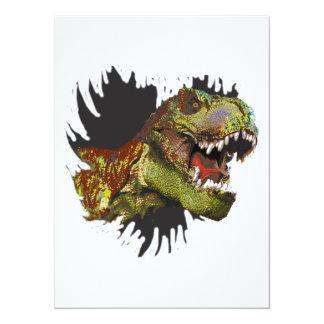 Koele Uitnodiging t-Rex - origineel kunstwerk