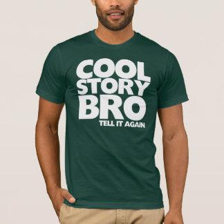 Koele verhaalbro vertelt opnieuw het t shirt